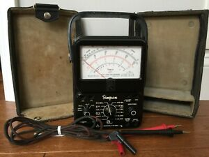Simpson 260 Series 7 Ohm Multimeter W orig Hard Case Leads Works No Manual