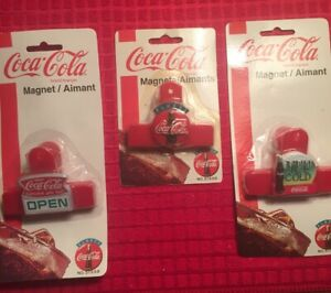 Collectible Coca-Cola Magnets Clip  1997 LOT of 3 New