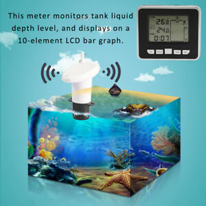 Ultrasonic Tank Liquid Depth Level Meter With Temperature Sensor Water Level