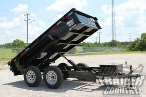New 2020 5 X 10 7k Gvwr Hydraulic Power Up Down Dump Trailer Equipment Hauler