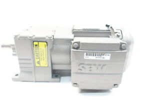 Sew Eurodrive R17drs71s4 Gearmotor 21rpm 3ph 0 5hp 3 4in 230 460v ac