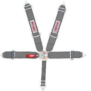 Simpson 29061bl Blue 5 Point Seat Belt Harness Set Pull Up Bolt In