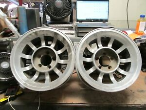 Pair 15x8 Western Bullet Wheels Dodge Ford Mopar Charger Mustang Challenger Mag