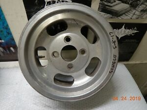 Vintage Used Slot Mag Wheel 4 lug 13x5 5 Ford Chevy Nova Mustang Gm Car Falcon