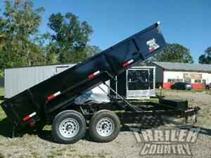 New 2020 7x16 7 X 16 14k Gvwr Hydraulic Dump Trailer Equipment Hauler 24 Sides