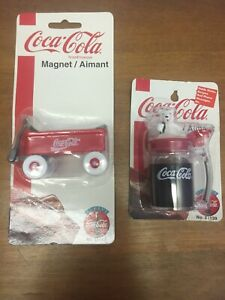 Coca Cola Magnets Red Wagon And Polar Bear