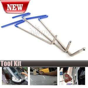 Paintless Dent Removal Puller Tools Auto Body Push Rods Hail Repair Tail New Set