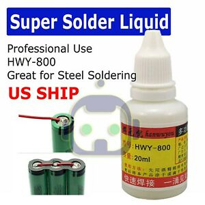 20ml No Clean Liquid Flux Paste Needle Tipped Bottle Stainless Steel Soldering