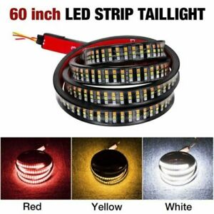 60 Tailgate Led Strip Light Bar Truck Reverse Brake Turn Signal Tail Light Wi