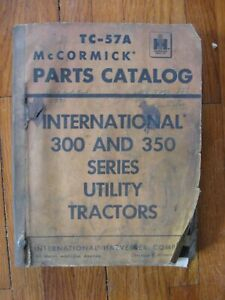 International Farmall 300 350 400 450 Tractor Parts Catalog Plows Disks Listers