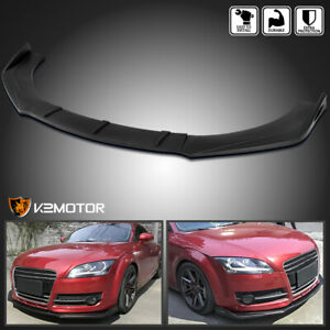 Universal 3pc Style Black Front Bumper Lip Spoiler Splitter Body Kit Ford Bmw Vw