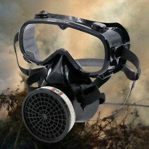 Full Face Goggle Breathing Filter Gas Cover Paint Chemical Device