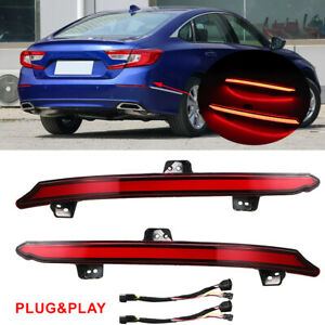 High Power Led Bumper Reflector Brake Tail Light Signal Lamps For Honda Accord