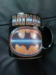Vintage 80s BATMAN COFFEE MUG by Applause Tim Burton Batman movie 1989