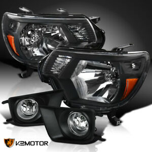 For 2012 2015 Tacoma Factory Headlights Black Fog Driving Bumper Lamp Switch