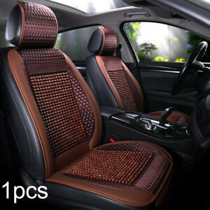 Car Natural Wood Beaded Seat Cover Massaging Cool Cushion Cooling Breathing Us