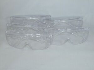Lot Of 5 G6 Series Clear Body Guard Over the glass Visitor Safety Glasses Used