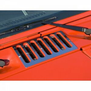 Rugged Ridge 11117 05 Hood Vent Cover Stainless Steel Rugged Ridge Jeep Wrang