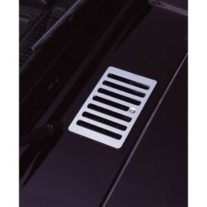 Rugged Ridge 11117 04 Hood Vent Cover 98 06 Jeep Wrangler unlimited Stainless