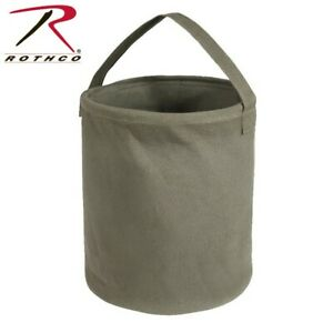 9003 Rothco Olive Drab Large Heavy Weight Collapsible Canvas Water Bucket