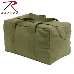 7028 Rothco Heavy Weight Canvas Small Parachute Cargo Bag 7028 8107 olive Drab
