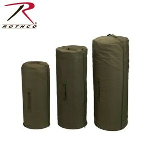 Rothco 3490 Olive Drab Side Zipper Heavy Weight Canvas Military Duffle Bag 30 X
