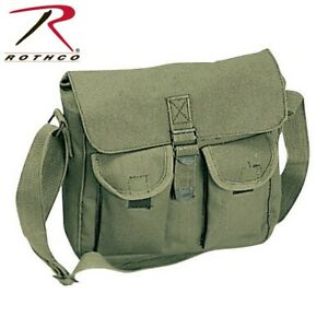 Rothco 2277 Ammo Shoulder Bag Tote Canvas Heavy Weight Military Rothco olive Dra