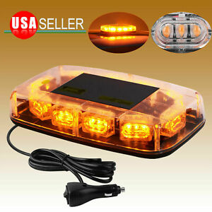 Roof Top 30 Led Amber Strobe Light Emergency Hazard Warning Signal Lamp Magnetic
