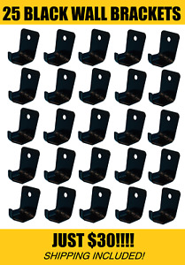 25 Lot Black Hook Style Wall Mount 10 Size Fire Extinguisher Bracket Universal