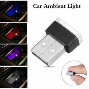 1x Mini Usb Led Car Interior Light Neon Atmosphere Ambient Lamp Bulb Accessories