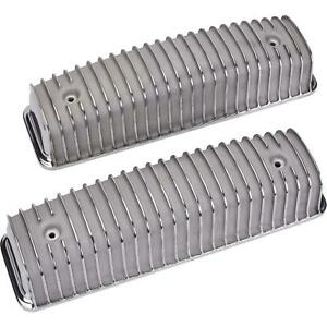 Ford Y Block Finned Valve Covers Polished