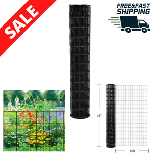 Garden Fence Welded Wire 4 Ft X 100 Ft Property Boarder Vinyl Coated Galvanized