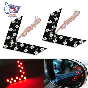 2x Auto Car Side Rear View Mirror 14smd Led Lamp Turn Signal Light Accessories