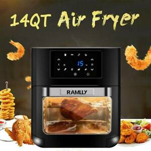 14qt 1700w Electric Air Fryer Oven Oilless Cooker With Lcd Digital Screen