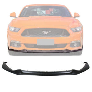 Fits 15 17 Ford Mustang Gt500 Style Front Bumper Lip Spoiler Unpainted Black