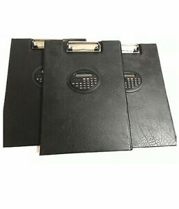 Lot Of 3 Heavy Duty Paper Clipboard With Calculator