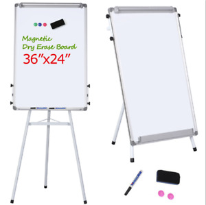 Height Adjustable Tripod Magnetic Whiteboard Portable Dry Erase Board W Stand