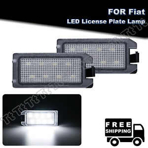 2x Led License Plate Lights For Fiat 500 Dodge Viper Jeep Grand Cherokee compass