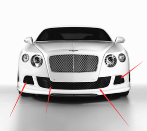 New Aftermarket Bentley Continental Gt gtc Black Front Bumper Grill Set 4 Pcs