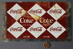 1960s Era Coca-Cola diamond checkerboard pattern Unused soda pop can flat-COKE!*