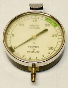 Vintage Vacuum Gauge 0 30 Vacuum 1 6 Pounds Pressure Car Truck Repair