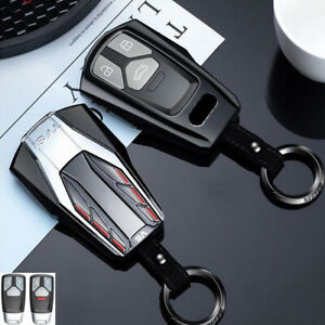 Vtec Design Car Remote Key Fob Case Chain Cover Holder For Audi A4 A5 6 Q5 Q7 Tt