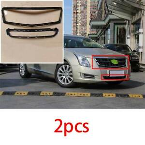 Fit For Cadillac Xts 2013 2014 2017 Black Center Hood Mesh Grille Grill Frame