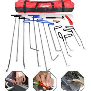 Car Tools Push Rods Spring Steel Kit Paintless Dent Repair Hail Removal Abc