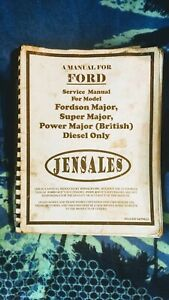 Jensales Service Repair Manual Fordson Major Super Major Power Major Diesel