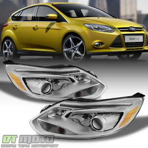 European St Model For 2012 2013 2014 Ford Focus Led Drl Projector Headlight Pair