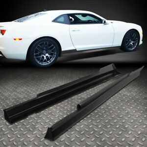 For 2010 2015 Chevy Camaro Zl1 Style Pair Side Skirts Panel Extension Body Kit