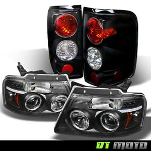 Black 2004 2008 Ford F 150 Halo Projector Led Headlights tail Lights Left right