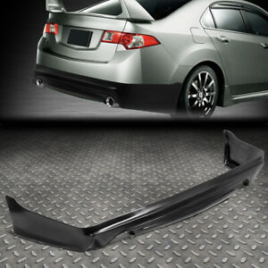 For 09 14 Acura Tsx Mugen Style Rear Bumper Protector Lip Diffuser Splitter Kit