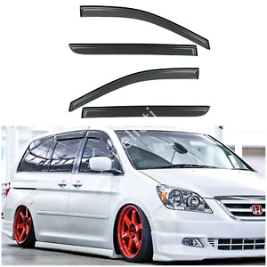 4pcs Outside Mount Smoke Sun Rain Guard Window Visors Fit 08 10 Honda Odyssey